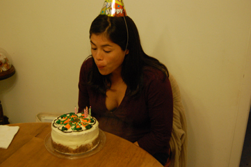 Blowing out my candles
