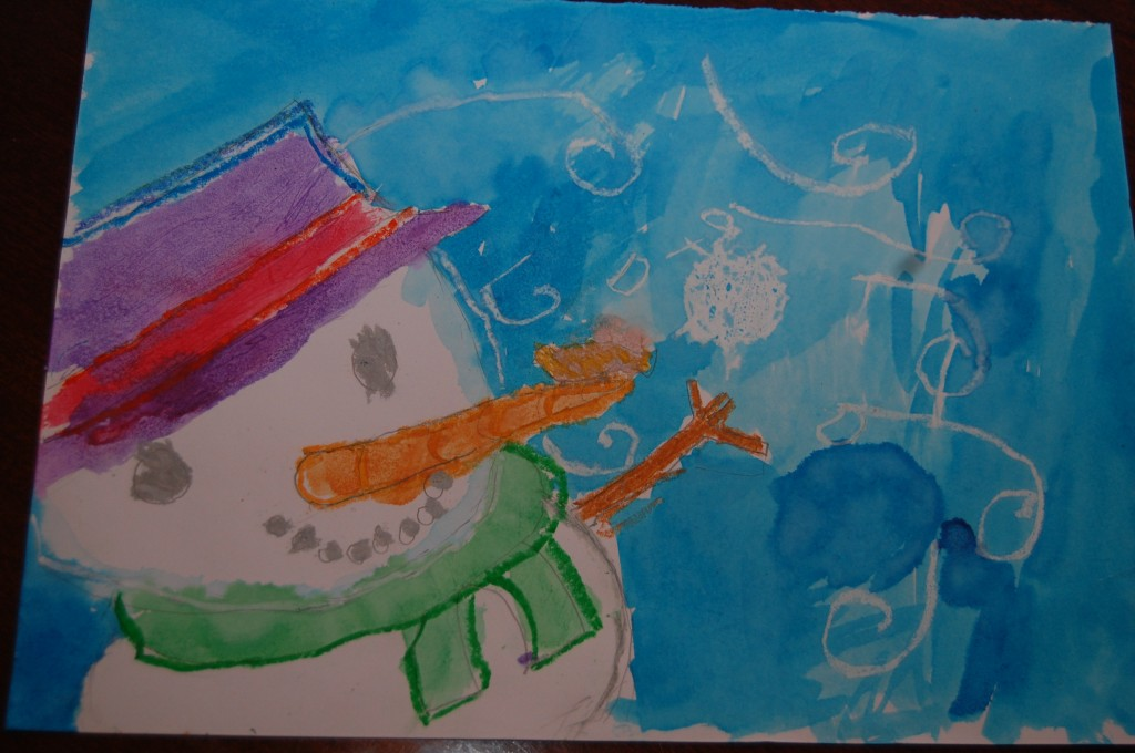 Connor's Christmas artwork with Miss Dayna