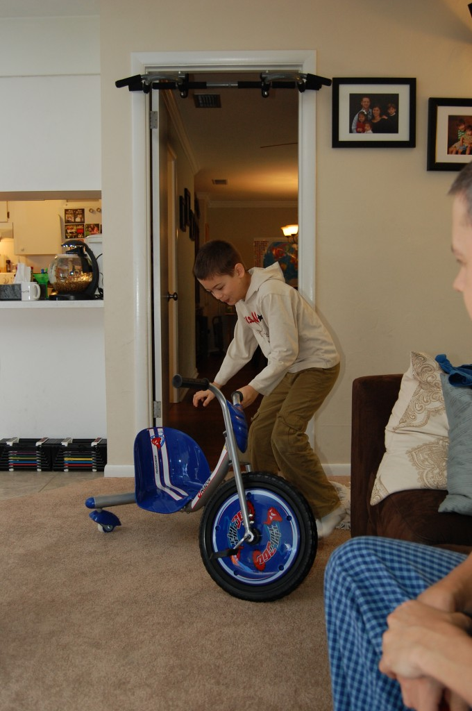 Connor was excited about his new Riprider 360
