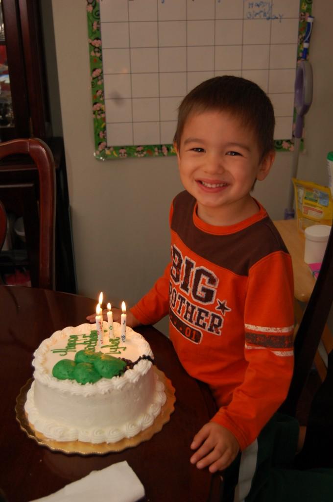 Tyler turning 4!