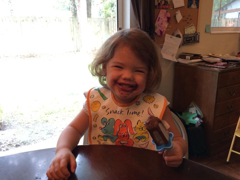 This girl loves popsicles!