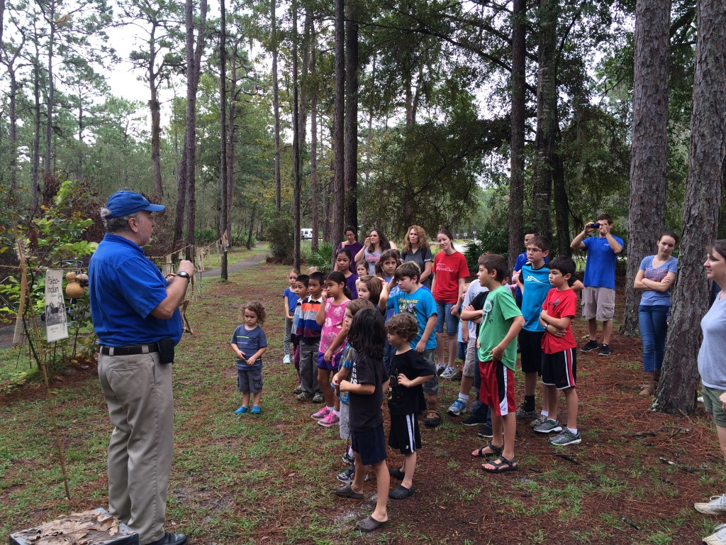 Field trip at Morningside Nature Center--learning about first inhabitants of FL!